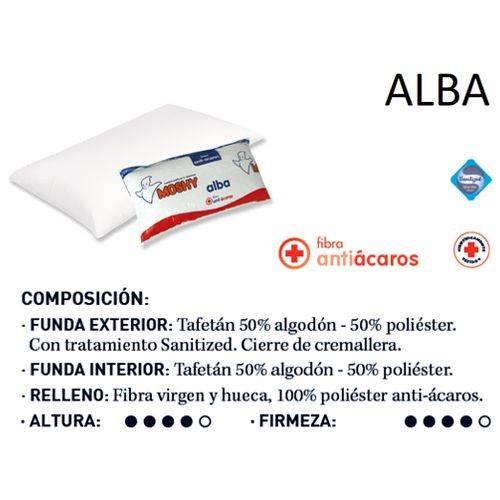 ALMOHADA MOSHY ALBA 90CM ANTIACAROS M-6903
