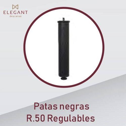 JGO PATAS DESCANSO ELEG 25CM R50 REGUL NEGRA SET/2