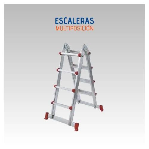 ESCALERA LUBER MULTIPOSICION 4X4 ALUM