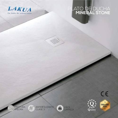 PLATO DUC LAKUA STONE MINERAL 100X80 BLANC