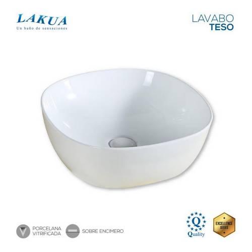 LAVABO LAKUA TESO PORCELANA 425X425X145