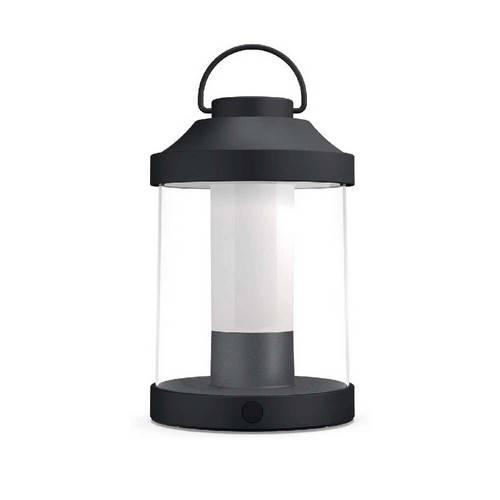 LAMPARA MESA PHILIPS ABELIA 1X3W NEGRA 1736030P0