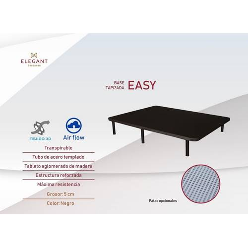 BASE TAPIZADA ELEGANT EASY 90X190 3D AIR