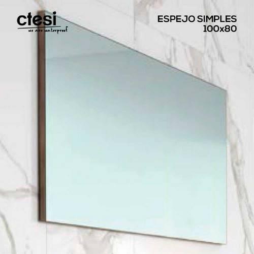 ESPEJO BAÑO CTESI SIMPLES 100X80 TRASERA GRIS